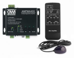 AMPMA40X: Digital Mini Amplifier/Mic Mixer/ with Remote Control