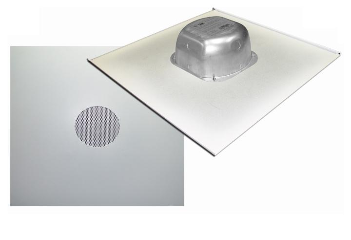 2X2IC670V10: 70 Volts In-ceiling Speaker on a 2X2 Tile with Backcan