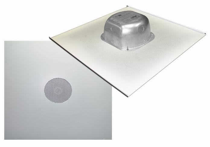 2X2IC6NA: 8 Ohms In-ceiling Speaker on a 2X2 Tile with Backcan