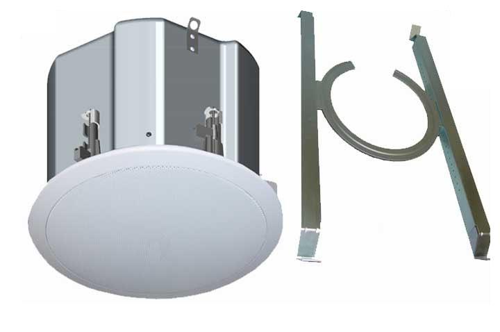 ICM8: 3-IN-1, Selectable Full Range/High Ceiling/Sub switch, 25/70/100 Volts - 8 Ohms,  In-ceiling Speaker with built-in Backcan and Included T-bar Bracket